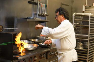 Pietros Italian Restaurant - Peter cooking in the kitchen