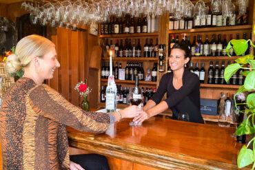 Pietros Wine Bar - Sasha at the bar